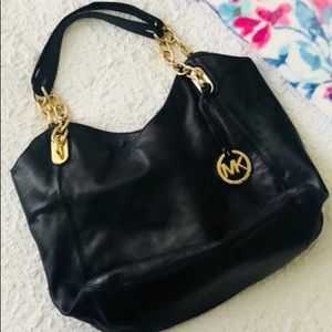 Michael Kors soft black leather